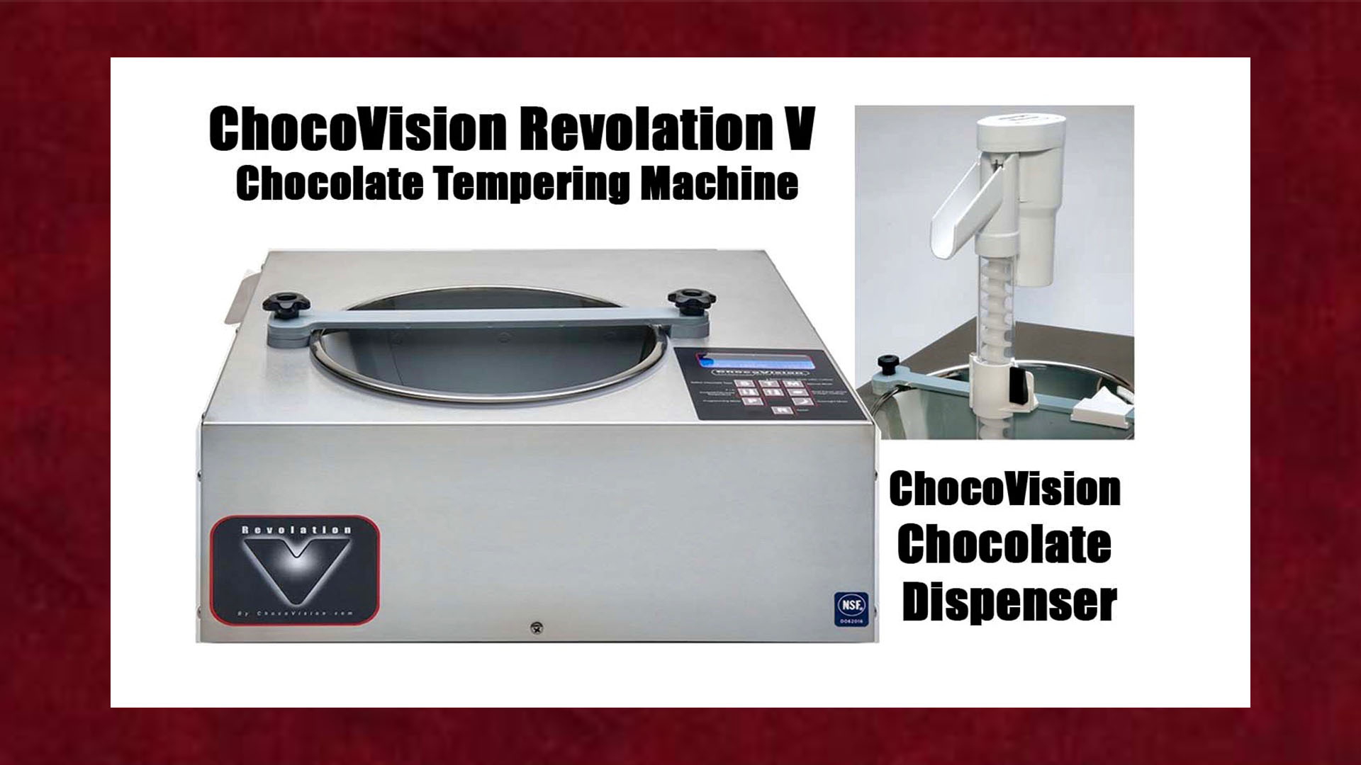 Chocovision Revolation V Tempering Machine & Dispenser